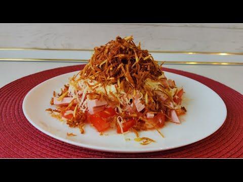 Простой рецепт вкусного салата на каждый день и праздничный стол. Готовим дома быстро и вкусно.