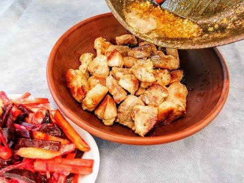 Рецепт мяса - вкуснее шашлыка! Бонусом жареный винегрет /Семейный ужин на Другой Кухне