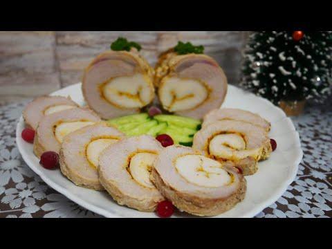 Мясной РУЛЕТ ЛУЧШЕ КОЛБАСЫ. Рулет из свинины и куриного филе Блюда на Новый Год,новогодний стол 2021
