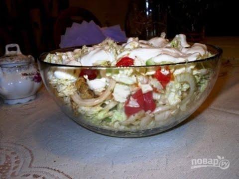 Салат с мясом (свинина). Кухня рецепты
