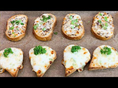 БУТЕРБРОДЫ (5 Рецептов бутербродов) Закусочные, горячие бутерброды на праздничный стол, на завтрак