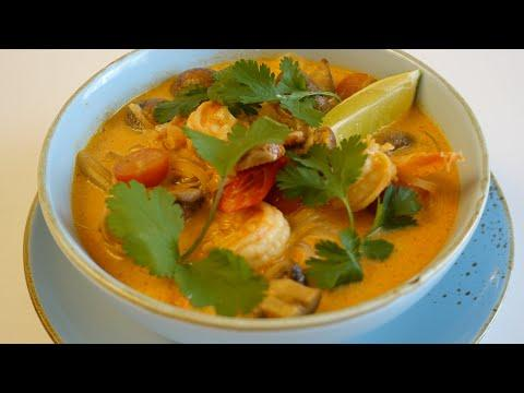 Тайский Суп Том Ям  Вкуснее, чем в Ресторане. / Tom Yum Suppe / Thailand street food  Tom Yum Soup