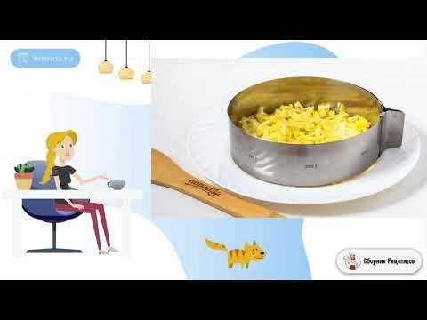 Салат с курицей яйцом грибами и огурцом. Пошаговый рецепт