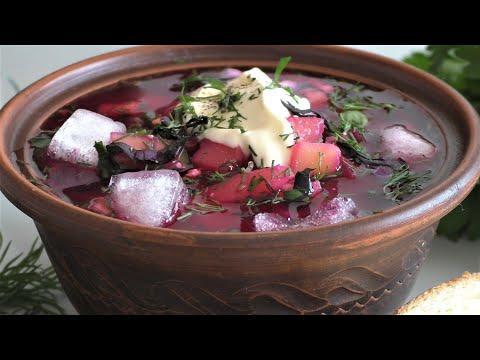СВЕКОЛЬНИК - холодный летний суп на отваре. Бабушкин рецепт, самое то в жару Рецепт русской кухни