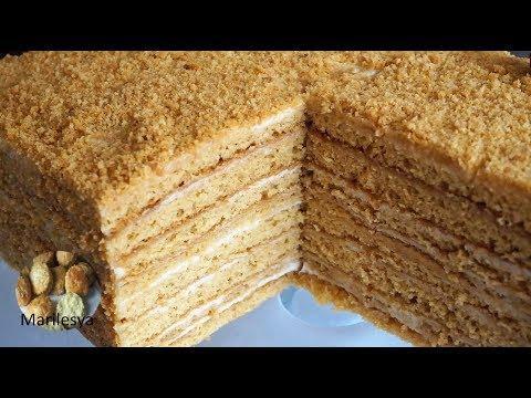 ЛЕНИВЫЙ МЕДОВИК без раскатки, вкусный медовый торт/MEDOVIK honey cake