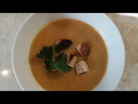 Чечевичный суп-пюре.  Постный! Вкусный! Сытный!