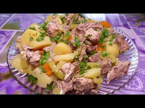 Нежная и вкусная свинина с овощами на пару