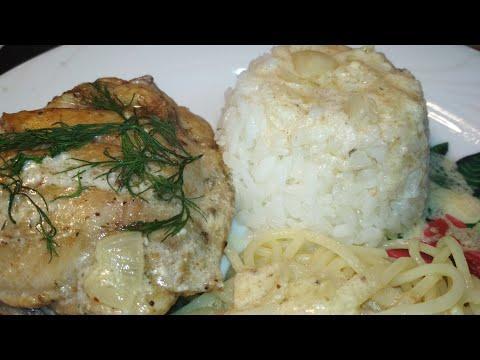 #курица#сметана#соус. Куриные бедрышки в белом соусе.
