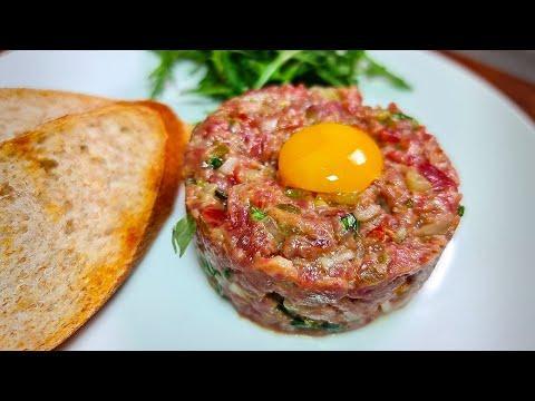 Тартар из говядины | Французская закуска из сырого мяса