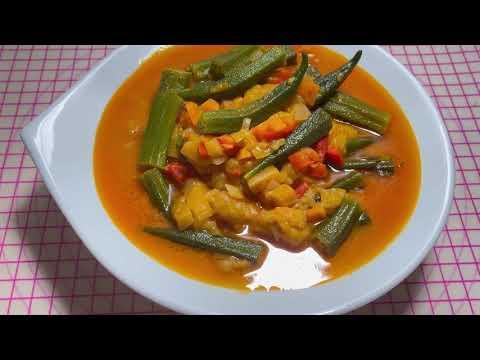 рецепт супа из баклажана и бамии Суп из бамии.Как приготовить бамию.