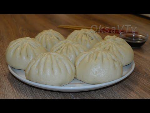 Китайские паровые булочки - Баоцзы(包子, Bāozi). Китайская кухня.