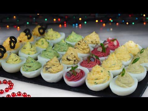 ЗАКУСКИ на НОВЫЙ ГОД 2021 - 8 ИДЕЙ Фаршированных яиц на НОВОГОДНИЙ СТОЛ 2021