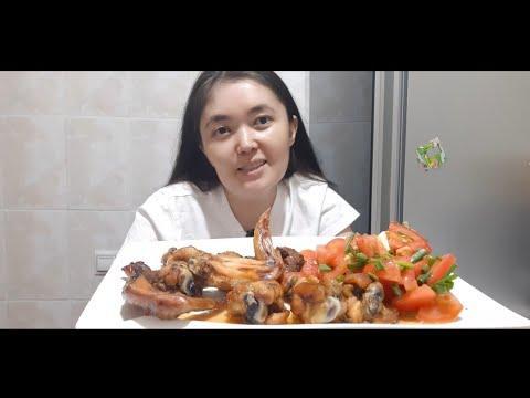 Mukbang Крылышки в медово-соевом соусе #mukbang #asmr #food