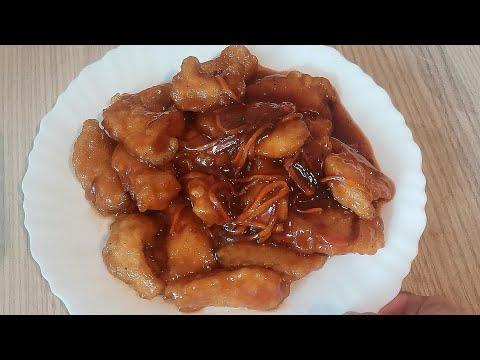 Любимое блюдо мужа! Мясо в кисло-сладком соусе. Китайская кухня