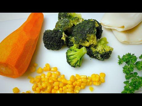 Такого рецепта в YouTube еще НЕ было! Очень вкусный салат с Кальмарами и Брокколи
