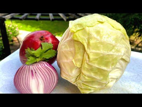 Салат из капусты. Все дело в заправке! Простой салат летний из капусты. Рецепты в гостях у Вани Кас.