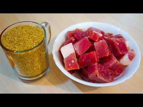 Гениальное марийское блюдо из пшеничной крупы и мяса.