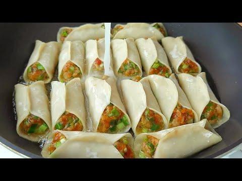 【小穎美食】鍋貼好吃有訣竅,教你飯店不外傳的做法,個個酥脆鮮香,真解饞