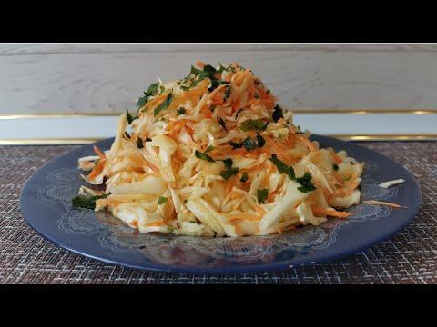 Простой рецепт вкусного, полезного и быстрого салата из капусты. Готовим дома быстро и просто.