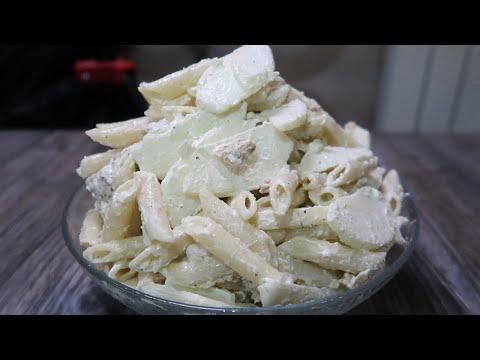 Салат с яблоком и макаронами нежный, простой и вкусный  Готовится очень быстро